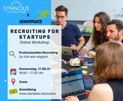 Professionelles Recruiting - so früh wie möglich | Workshop Startup Academy