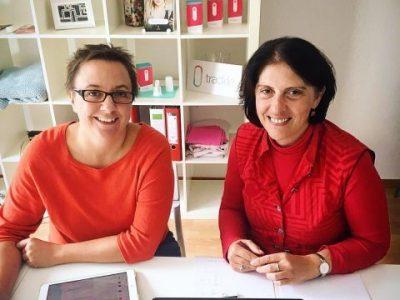 Martha und Kathrin von trackle arbeiten an einem Recruiting Konzept